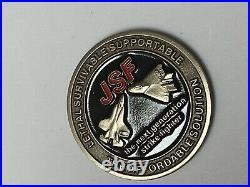 JSF JOINT STRIKE FIGHTER USAF USMC USN RN RAF RDAF X-35 X-32 1.5 Challenge Coin