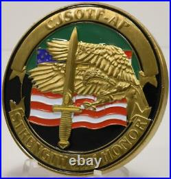 JSOC 5th Special Forces Airborne OIF CJSOTF AP Dagger Challenge Coin Navy SEAL