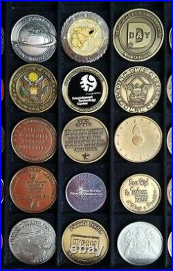 Large Lot of 41 US Military Challenge Coins Tokens ARMY NAVY AIR FORCE MARINES