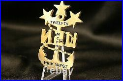 MCPON 12 Rick West Navy Master Chief Petty Officer Challenge Coin Navy CPO
