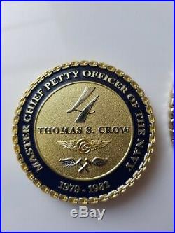 MCPON Challenge Coin Set Navy Chief USN CPO Genuine SUPER RARE HARD TO FIND