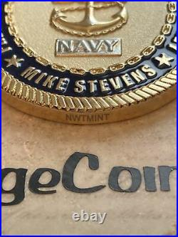 MCPON Mike Stevens 13th Master Chief Petty Officer of the Navy Challenge Coin