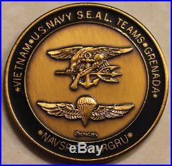 NAVSPECWARGRU SEAL Teams Grenada 1985 Navy Challenge Coin / UDTs BUDs SERE CLR