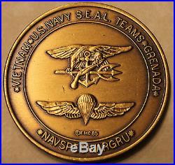 NAVSPECWARGRU Seal Teams Grenada 1985 Navy Challenge Coin / SEAL UDTs BUDs SERE