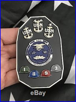 NAVY SEAL NSW Naval Special Warfare Basic Training CMD Boat Shape Challenge Coin