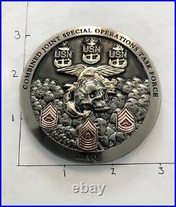 NAVY SEAL TEAM 1 3 5 7 CJSOTF IRAQ 17-1 Deployment NSW CHALLENGE CPO COIN CHIEF