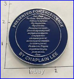 NAVY SEAL TEAM 5 Chaplin V Chaps NSW USN CHALLENGE COIN Lords Prayer FIVE