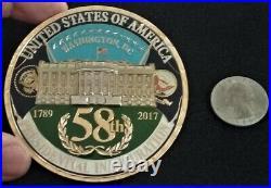 NEVER SEEN MASSIVE US Navy Ceremonial Guard White House President Challenge Coin