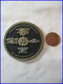 Naval Special Warfare Center Coronado Commodore Challenge Coin / Navy SEAL SWCC