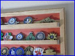 Naval Special Warfare Command Navy Seals Challenge Coin Display Flag 36x20