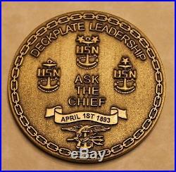 Naval Special Warfare Development Group SEAL Team 6 Chiefs Navy Challenge Coin