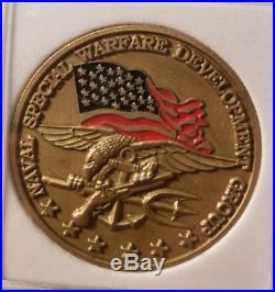 Naval Special Warfare Development Group SEAL Team 6 Chiefs Navy Challenge Coin B