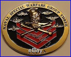 Naval Special Warfare Group 3 FCPOA First Class Assc SEALs Navy Challenge Coin