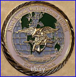 Naval Special Warfare Group Three Navy DET Little Creek Challenge Coin / 3 SEAL