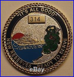 Naval Special Warfare Group Two Support SEALs ser # 314 Navy Challenge Coin