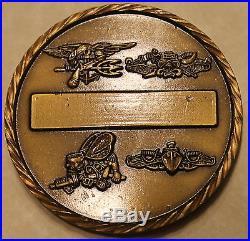 Naval Special Warfare Grp Three Per Mare Per Terras Navy Challenge Coin / 3 SEAL