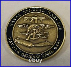Naval Special Warfare NAVSEA 06 PMS 240 Program Mgr SEAL Navy Challenge Coin