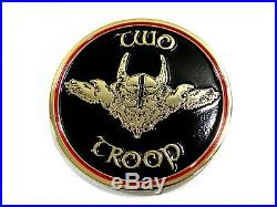 Naval Special Warfare Navy SEAL Team Eight 8 Two Troop Odin Challenge Coin 2