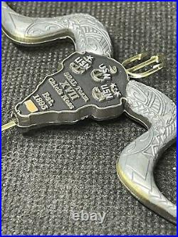 Naval Special Warfare Navy Seal Team 17 Serialized Chiefs Mess Challenge Coin