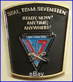 Naval Special Warfare SEAL Team 17 XVII Navy Challenge Coin