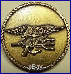Naval Special Warfare SEAL Team 1 Dark Purple Navy Challenge Coin