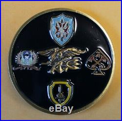 Naval Special Warfare SEAL Team 2 / Two (4 Troops) Navy Challenge Coin