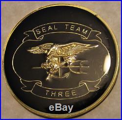Naval Special Warfare SEAL Team 3 Epoxy Navy Challenge Coin / Three