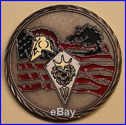 Naval Special Warfare SEAL Team 4 MAL AD OSTEO Large 2 Navy Challenge Coin
