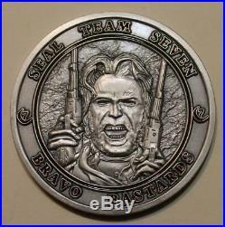 Naval Special Warfare SEAL Team 7, 1 Troop Bravo PLT Navy Challenge Coin / Seven