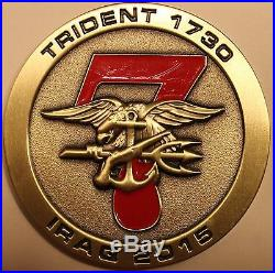 Naval Special Warfare SEAL Team 7, 3 Troop Iraq 2015 Navy Challenge Coin / Seven