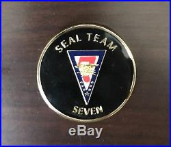 Naval Special Warfare SEAL Team 7 Epoxy Version Navy Challenge Coin / Seven