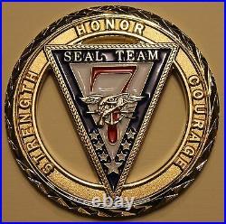 Naval Special Warfare SEAL Team 7 Navy Challenge Coin / Seven