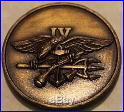 Naval Special Warfare SEAL Team Four 1990s Navy Challenge Coin / 4