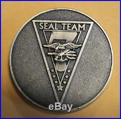 Naval Special Warfare SEAL Team Seven / 7 Bronze Navy Challenge Coin