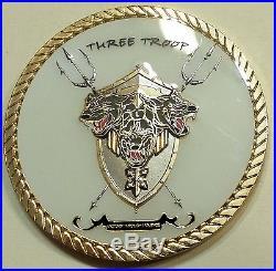 Naval Special Warfare SEAL Team Ten / 10, 3 Troop Navy Challenge Coin Cir2015