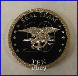 Naval Special Warfare SEAL Team Ten / 10 CMDCM Master Chief Navy Challenge Coin