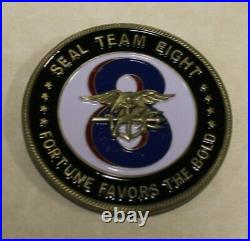 Naval Special Warfare Seal Team 8 / Eight Honest & Trustful Navy Challenge Coin