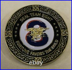 Naval Special Warfare Seal Team 8 Fortune Favors the Bold Navy Challenge Coin
