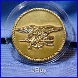 Naval Special Warfare Seal Team One Gold Toned Navy Challenge Coin One