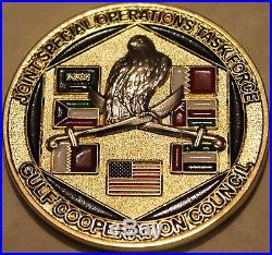 Naval Special Warfare Unit 3 / Three CJSOTF-GCC Navy SEALs Challenge Coin