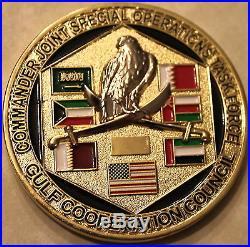 Naval Special Warfare Unit Three Commander CJSOTF-GCC Navy SEALs Challenge Coin