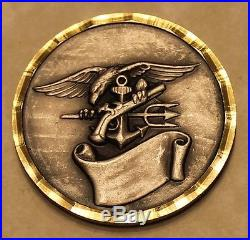 Naval Special Warfare Unit Two Silver Toned Diamond Cut Edge Navy Challenge Coin
