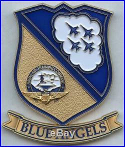 Navy Blue Angels COMMAND MASTER CHIEF Challenge Coin CMDCM AWithSW Chris Zeigler