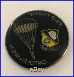 Navy Blue Angels, Parachute Rigger, We Bury Our Mistakes Challenge Coin A27