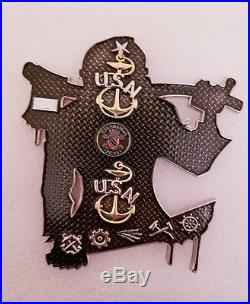 Navy CPO Chief Challenge Coin JASON RARE non nypd msg ONLY100 MADE IN WHITE