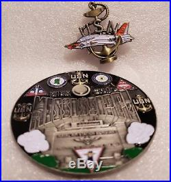 Navy CPO Chief Challenge Coin NAS Meridian RARE non nypd msg REMOVABLE JET