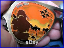 Navy Chief Aviator Sunglasses Challenge Coin Solid Pewter Awesome Colors