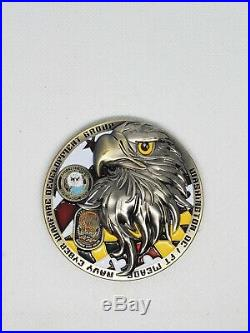 Navy Chief CPO Challenge Coin BALD EAGLE nypd msg VERY LIMITED MASSIVE 3D