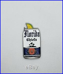 Navy Chief CPO Challenge Coin CORONA Drink Can non nypd msg RARE