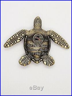 Navy Chief CPO Challenge Coin GITMO SEA TURTLE non nypd msg AMAZINGRARE